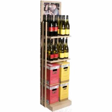 DHN001 - Houten flessen vloer display