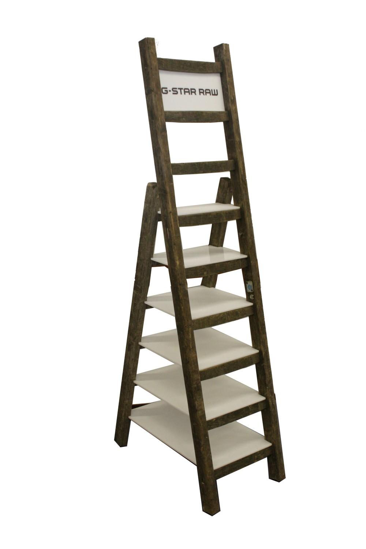DKAN001 - Houten Ladder Display